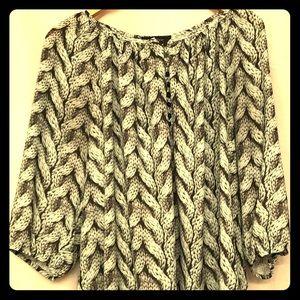 Karen Kane chunky sweater patterned blouse